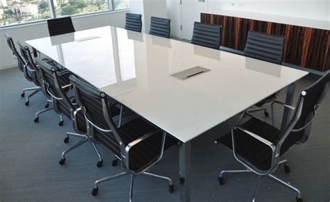 Back Painted Glass Conference Table Office Conference Room Furniture And Tables