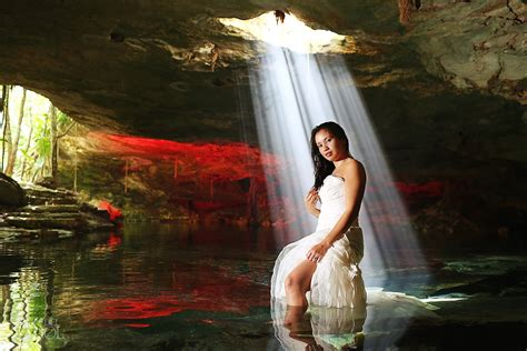 del sol photography destination weddings trash the dress cenote trash the dress in the riviera maya abby and