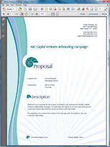 company rebranding sample proposal