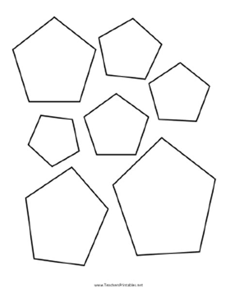 pentagon template hexagon templates to print out search results calendar
