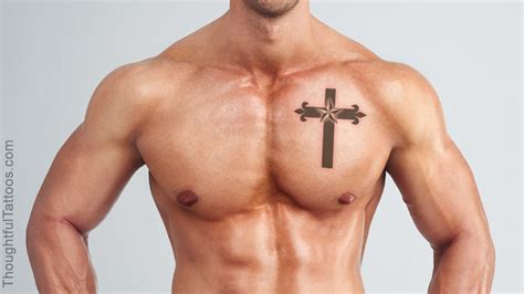 cross star tattoos truly awesome nautical tattoos to sport on the chest