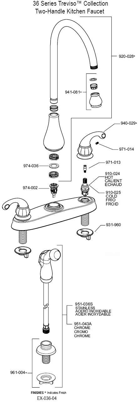 PlumbingWarehouse.com   Price Pfister Kitchen Faucet Parts For Model 36 4DCC