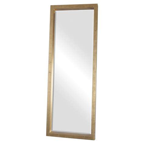 eda antique gold block floor mirror kathy kuo home
