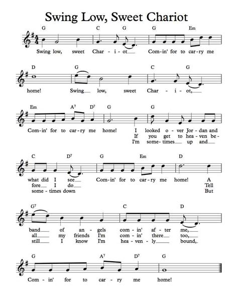 lyrics of swing low sweet chariot 14 swing low sweet chariot