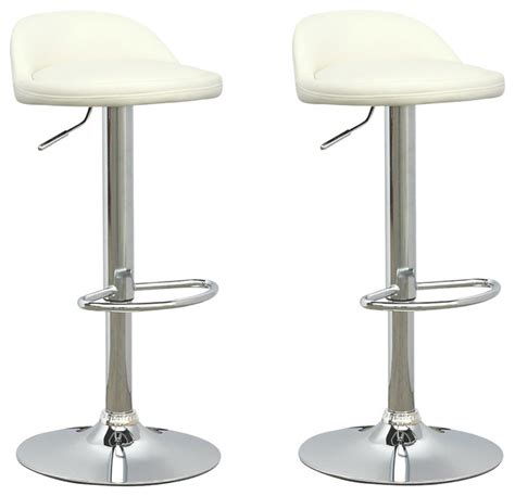 posh bar stools posh adjustable bar stools white leatherette set of 2