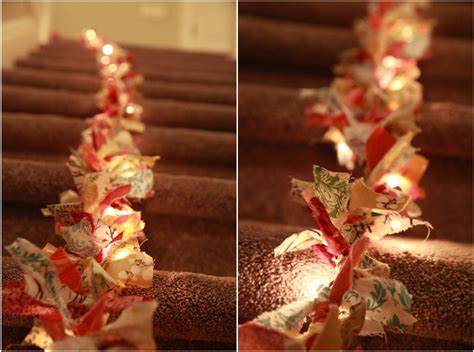 christmas string garland vintage pretty diy fabric garland