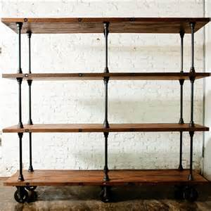 Bookcase Shelf Hardware Industrial Style Bookshelves For A Simple Contemporary