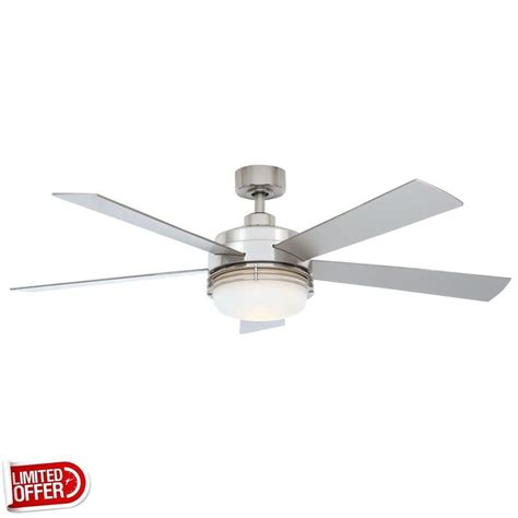 brushed nickel ceiling fan sale hton bay sussex ii 52 inch brushed nickel ceiling