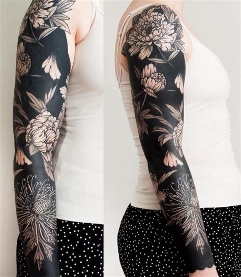 blacked out arm tattoo 25 best ideas about blackout on black