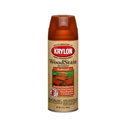 Spray Paint Stained Wood - buy the krylon k03604000 exterior wood stain spray redwood 12 oz hardware world