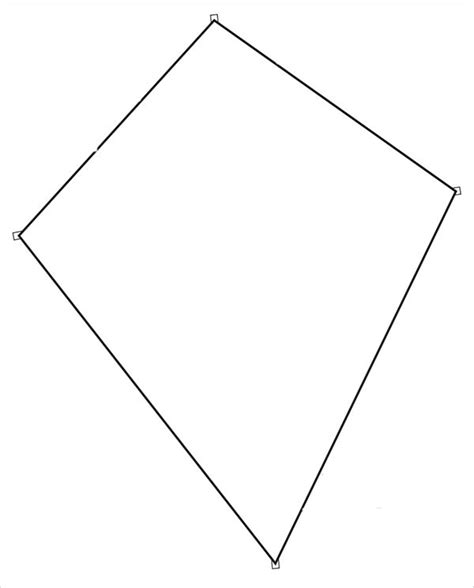 template of kite 19 sle printable kite templates sle templates