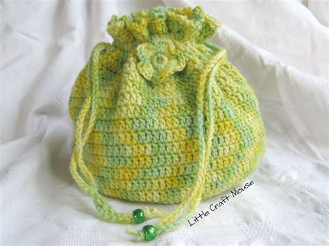 pattern crochet string bag drawstring bag crochet pattern