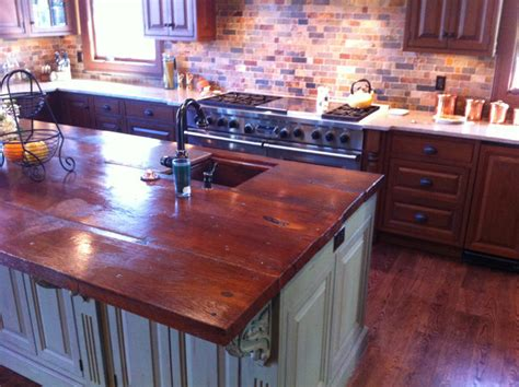 Wood Look Countertops by Concrete Countertops Traditional Kitchen Other Metro