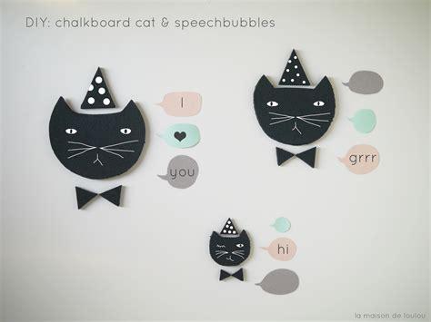 diy chalkboard speech diy free templates chalkboard cats speech bubbles