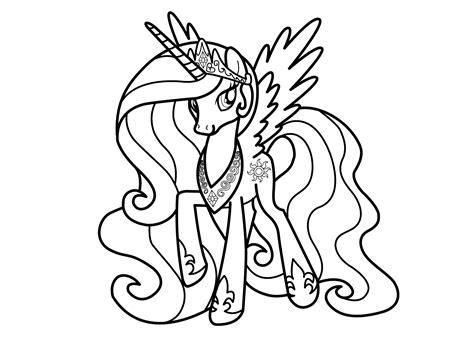 my little pony l coloriage de my little pony princesse celestia collection