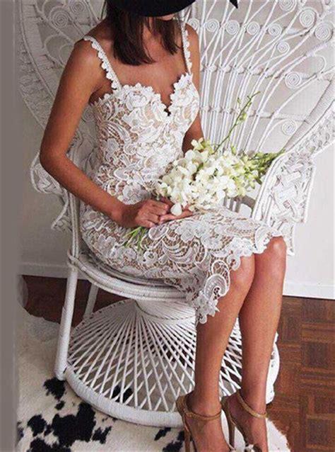 Spaghetti Bustier Top feminine lace calf length dress white bustier top