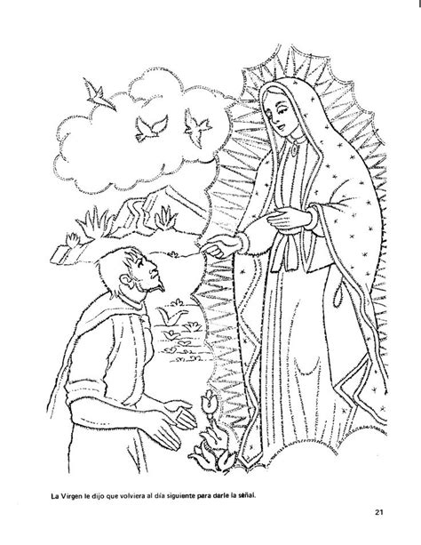 imagenes dela virgen de guadalupe para colorear printable to color of la virgen de guadalupe teaching