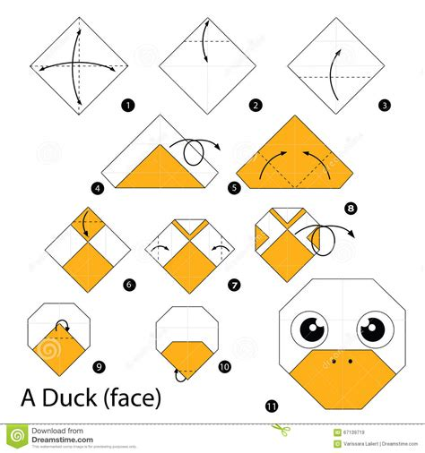 How To Make Paper Duck Step By Step - step by step how to make origami a duck