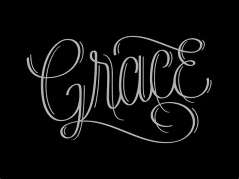 grace lettering by jude landry dribbble