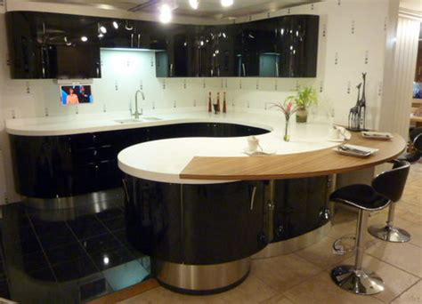 Ex Display Aster Cucine High Gloss Black Kitchen