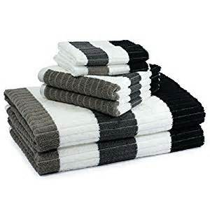 black and white bath towel sets black and grey striped bath towel set