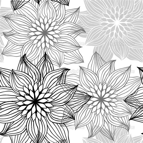floral pattern design drawing seamless pattern with hand draw flowers floral
