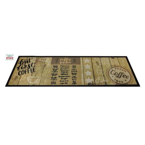 tappeti cucina antiscivolo tappeto cucina antiscivolo 50x150 cm mat design coffee