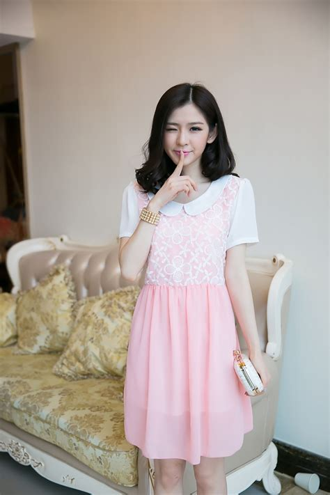 Minidress Jeslyn Ready 4 Warna mini dress korea warna pink 2015 myrosefashion