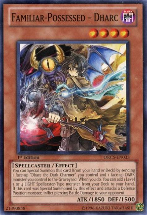 Kartu Ori Yu Gi Oh Familiar Card best yu gi oh familiar possessed dharc 33 order of chaos 1st edition common best