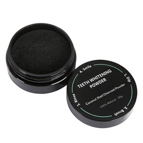 natural teeth whitening powder  coconut activated charcoal