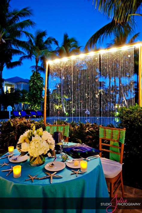 wedding reception at the pool at sunset key guest cottages