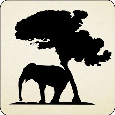 African Safari Home Decor by African Elephant And Tree Vinyl Wall Decals Stickers
