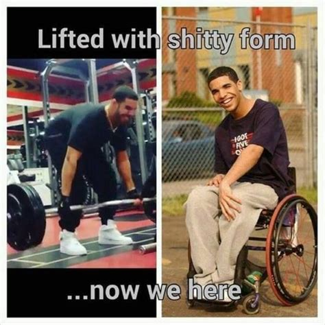 Drake Wheelchair Meme - drake funniest lifting memes top 6 broscience co