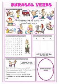 phrasal verbs vocabulary exercises worksheet free esl
