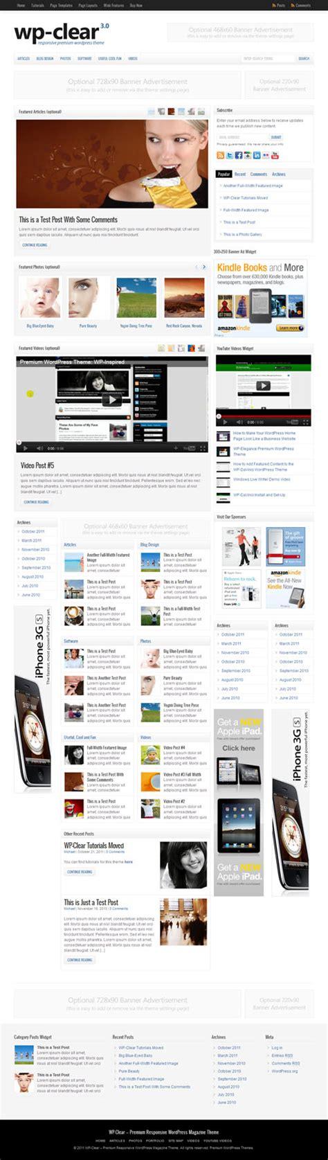 wordpress theme multiple layout 90 best responsive magazine wordpress themes
