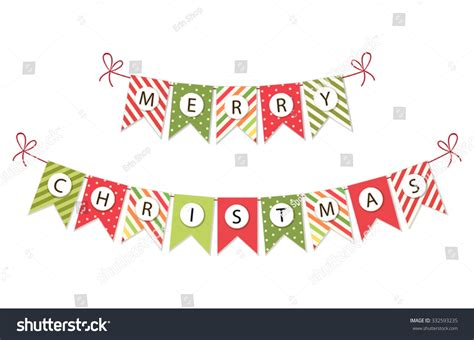 Murah Banner Flag Merry festive bunting flags with letters merry in traditional colors for your decoration