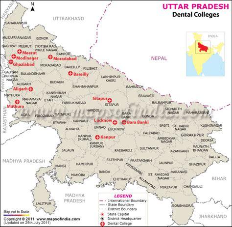 Mba Colleges In Uttar Pradesh by Dental Colleges In Uttar Pradesh Map Of Uttar Pradesh