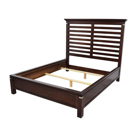 used queen bed frame 75 off tea trade tea trade dark wood caged queen bed