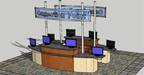 Desk Kiosk by Envisionary Images Church Welcome Center Furniture And
