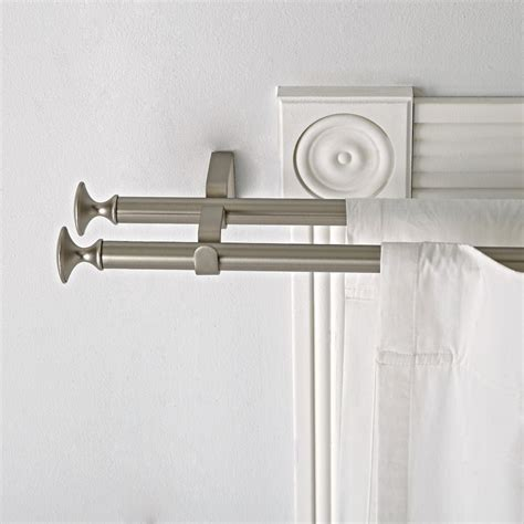 silver double curtain rod kids decorative knobs hardware the land of nod