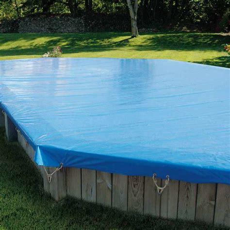 bache dhivernage pour piscine bois sunbay