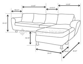 average length of a couch alina l shaped sofa with stool home office furniture