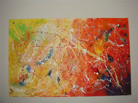how to splatter acrylic paint on a canvas one abstract acrylic drip splatter painting flickr