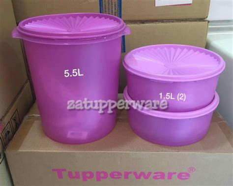 Tupperware Deco Canister 2pcs za tupperware brands malaysia clearance stock