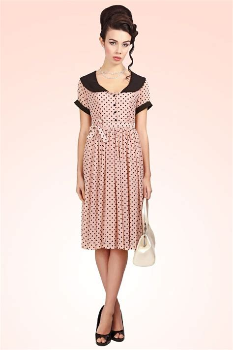 Nl Dress Polka collectif clothing 50s betty lou doll blush polka dot chiffon dress wardrobe wishlist
