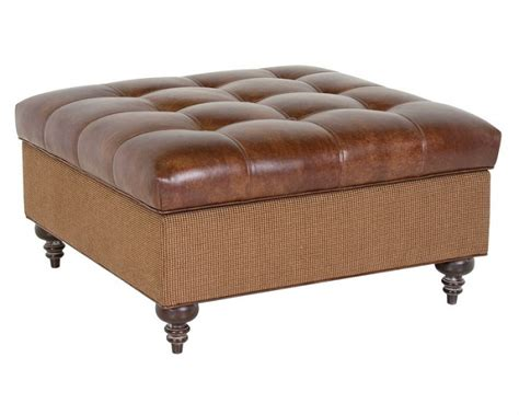 leather cocktail ottoman with storage leather cocktail ottoman danny leather storage ottoman