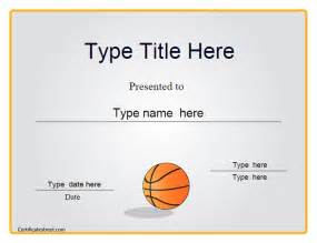 basketball certificate templates printable basketball award certificate templates