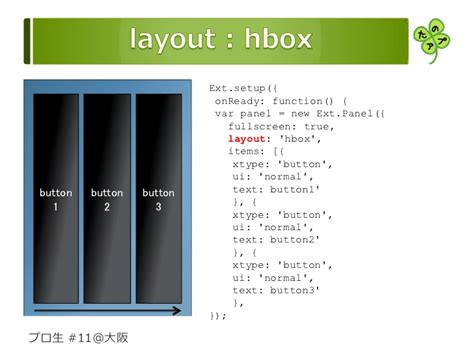 qx ui layout hbox sencha touchをさわってみた