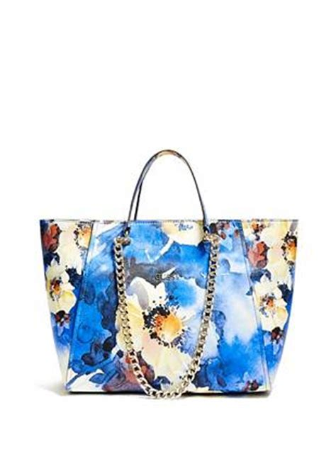 nikki tote bag pattern free nikki floral print chain tote guess com