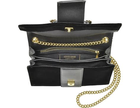 Roberto Cavalli Velvet Snake Wrap Clutch by Roberto Cavalli Small Black Velvet Leather Clutch W